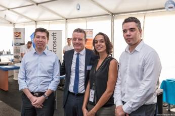 23 septembre 2015 - Inauguration du Salon Run in Tech avec Vincent Payet et Philippe Arnaud.