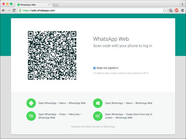 what's app web